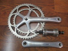 CAMPAGNOLO RECORD 175 53/39 135 10 SPEED DOUBLE CRANK SET ENGLISH BOTTOM BRACKET