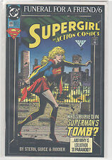 Action Comics #686 Funeral For a Friend Superman Supergirl 9.6