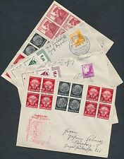 LZ130 GERMANY JUL-AUG 1939 GRAF ZEPPELIN II (4) DIFFERENT FLIGHT COVERS BR1919