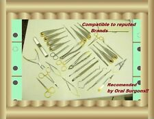 30 Oral Dental Surgery Surgical Instruments KIT  with Cassette Amazing Set