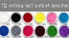 VELVET FLOCKING POWDER For Acrylic or Gel Nail Art