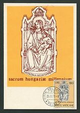 VATICAN MK 1971 MADONNA & JESUS CHRISTUS MAXIMUMKARTE MAXIMUM CARD MC CM d5617
