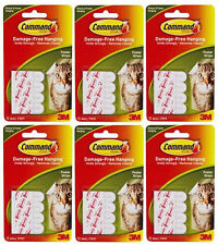 6 Packs of  3M Command 12 Poster Hanging Strips Damage Free Hanging (6 x 12)