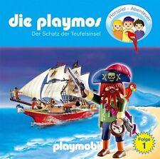 CD * DIE PLAYMOS (01) - DER SCHATZ DER TEUFELSINSEL  # NEU OVP &