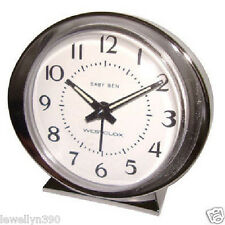 Westclox Baby Ben Classic Alarm Clock Keywound movement Metal Bezel 11611A