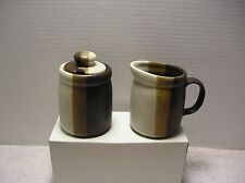 Vintage McCoy USA Pottery #1414 Sandstone Stoneware Cream And Sugar