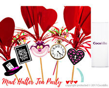 Coco&Bo 10 x Mad Hatter Party Picks - Alice in Wonderland Drink Cake Decorations