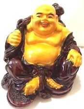 Feng Shui Chinese RED/Gold Gold Happy LUCKY Laughing Buddha Fortune and  LUCK