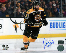 Patrice Bergeron Boston Bruins Signed Autographed Home Action 8x10 PF