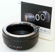 Premium quality Pentax K PK Lens to Micro Four Thirds System M4/3 Mount Adapter