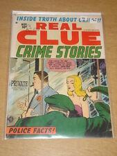 REAL CLUE CRIME STORIES VOL 7 #9 VG (4.0) HILLMAN COMICS NOVEMBER 1952