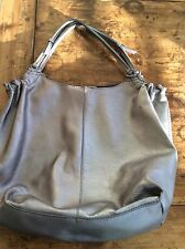 womens purses and handbags/champagne Leather Shoulder Tote Bag