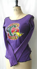 SALE PURPLE TATTOO SPEED FREAK LONG SLEEVE TOP PSYCHOBILLY 10 S PUNK MEXICAN
