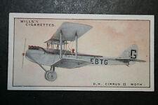 De Havilland Cirrus  Moth   Original 1930's Vintage Card  # VGC