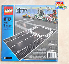 *NEW* LEGO Straight & Crossroad Road Base Plates 7280 Street City Baseplate