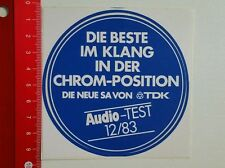Aufkleber/Sticker: Audio Test - TDK (180616145)