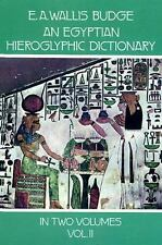 An Egyptian Hieroglyphic Dictionary, Vol. 2: With an Index of English Words, Kin