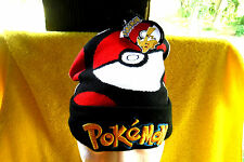 BRAND NEW W/TAG-POKEMON ANIME EMBROIDERED POM BEANIE CAP, HAT, COLLECTIBLE