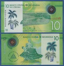 NIKARAGUA / NICARAGUA 10 Cordobas 2014 (2015) Polymer UNC  P.210