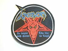 VENOM IN LEAGUE WITH SATAN EMBROIDERED PATCH