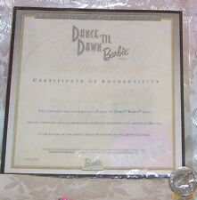 MATTEL DANCE TIL' DAWN BARBIE DOLL CERTIFICATE OF AUTHENTICITY COA ONLY