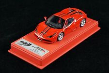 1/43 BBR FERRARI 458 SPECIALE A RED/BLACK STRIPES DELUXE BASE LE 10 PCS N MR