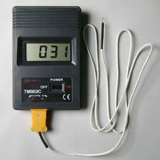 TM902C Digital LCD Thermometer Temperature Reader Meter Sensor K Type Probe TGS