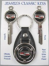 CORVAIR Chevrolet Bowtie Deluxe Classic White Gold Key Set 1969 1973 1977 1981