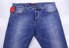 NWT New * ISAIA * Light to Medium Wash Japanese Selvedge Denim Slim Fit Jeans 38