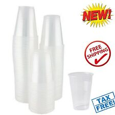 100 Disposable Clear Plastic Cups 5 oz Wedding Birthday Party Drinking Glasses
