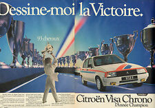 Publicité Advertising 1998 ( Double page )  CITROEN VISA II Chrono