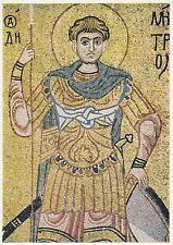 Post Card - Hl. Demetrios von Saloniki / Mosaik im Michaelkloster Kiew