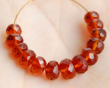 Natural Dark Citrine Faceted Rondelle Semi Precious Gemstone Beads