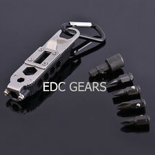 """EDC Multi Tool 3.75"""" Get-A-Way Driver Torx Hex Wrench Screwdriver Bottle Opener"""