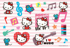 """Hello Kitty Stickers Decal Sheet Sticker Adhesive 5.75"""" x 4"""" NEW"""