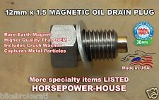 12mm US MADE MAGNETIC OIL DRAIN PLUG @ HONDA FORZA NSS300 SCOOTER 2014 2015 MORE