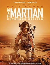 The Martian (Blu-ray Disc, 2016, 2-Disc Set, Extended Edition) NEW