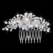 Wedding Bridal Crystal Rhinestone Diamante Hair Comb Clip Tiara Headpiece