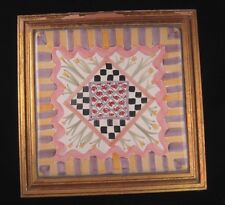 Mackenzie Childs Footed Framed Tile Trivet 1983 Vintage Retired Metal Nameplate