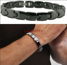 Hot Sale Energy Magnetic Health Bracelet Men Rock Style Black Tungsten Bracelet