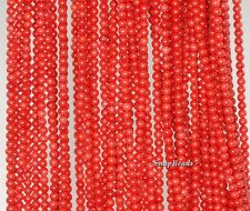 """2MM RED CORAL GEMSTONE GRADE AA DARK RED ROUND 2MM LOOSE BEADS 16"""""""