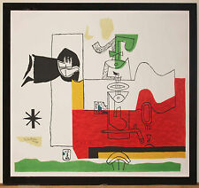 Listed Swiss - French Artist - Architect Le Corbusier Large Lithograph 1963