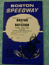 BOSTON SPEEDWAY PROGRAMME 1971 v RALEIGH  8th AUGUST  21st MEETING