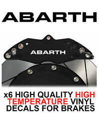 FIAT ABARTH HI - TEMP CAST VINYL BRAKE CALIPER DECALS STICKERS