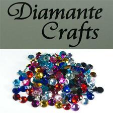 200 x 7mm Mixed Colours Diamante Loose Flat Back Rhinestone Vajazzle Body Gems