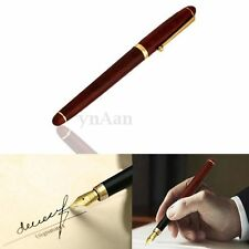Rosewood Wooden Metal Medium Iridium Nib Fountain Pen For Gifts Decoration Red