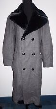 Eucalyptus Charcoal Gray Black Fur Winter Coat Womans Sz 36 S M
