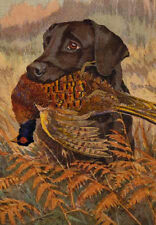 """perfact 24x36 oil painting handpainted on canvas """"A dog and its food""""@NO5081"""