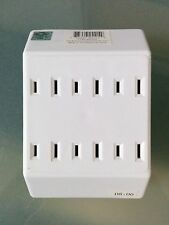 (1 pc) P&S Pass and Seymour 6 Outlet 2 Wire Tap Adapter Plug White