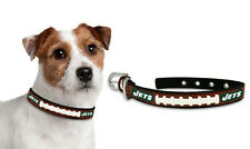 New York Jets Small Leather Lace Dog Collar [NEW] NY Pet Cat Lead CDG NFL